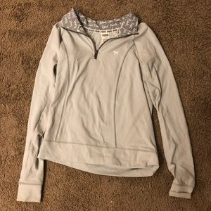 Pink Grey Yoga Quarter-Zip